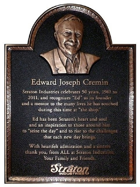 Edward Cremin plaque